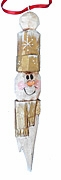 Wood Snowman Folk Art Christmas Ornament #17186