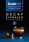 Decaf Espresso Dualit NX Coffee Capsules, Pack of  50