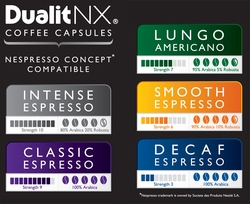 Dualit NX Coffee Capsules, Variety Pack of  50