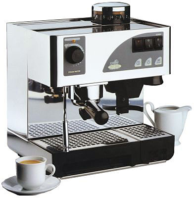 Espresso Coffee Maker Combo Grinder : Nemox Caffe Dell Opera. Espresso Machine and Grinder Combination