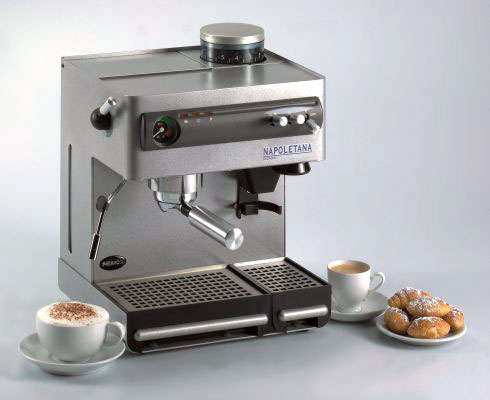 How To Use Napoletana Coffee Maker : Nemox Caffe Napoletana. Espresso Machine and Grinder Combination