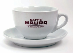 Set of 6 Mauro Cappuccino Cups / Saucers
