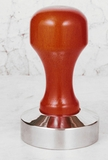 Stainless Steel Coffee Tamper with Wood Handle