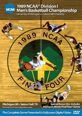 1989 NCAA Championship Michigan vs. Seton Hall DVD
