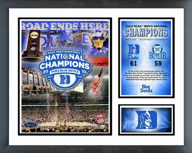 2010 Duke Blue Devils NCAA Final 4 Champions Framed Milestones & Memories