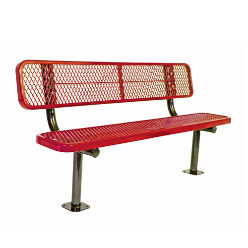 6 39 Bench W Back Surf Ace Mnt Diamond Color Of