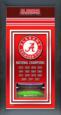 Alabama Crimson Tide 2013 BCS National Champions Framed Championship Banner