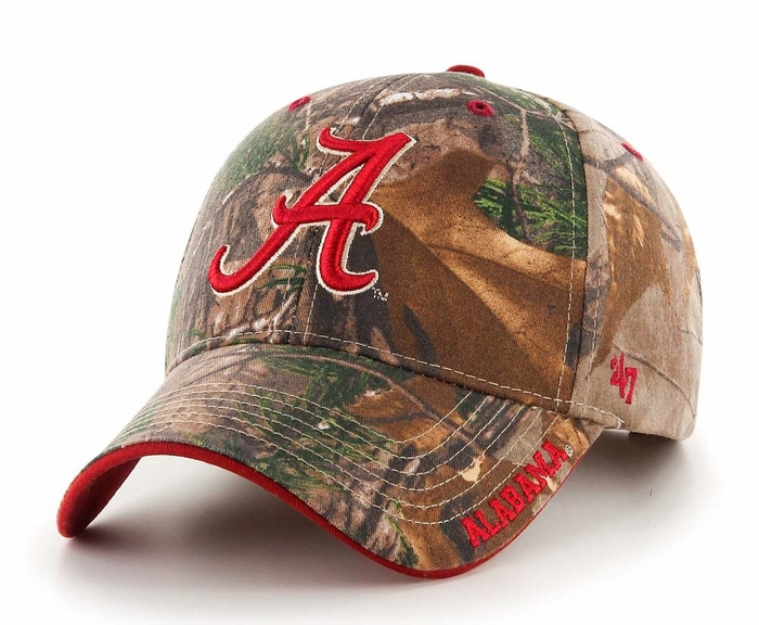 88488cf7b27e7b ... official alabama crimson tide 47 brand realtree frost structured hat  camo fc211 dbbb7