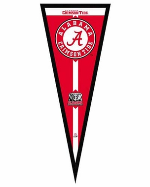 "Alabama Crimson Tide Pennant Frame - 13""x33"" (No Glass)"
