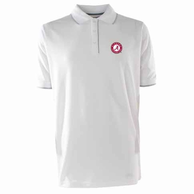 Alabama Mens Elite Polo Shirt (Color: White)