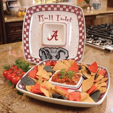 Alabama Gameday Ceramic Chip and Dip Platter