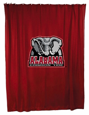 Alabama Jersey Material Shower Curtain
