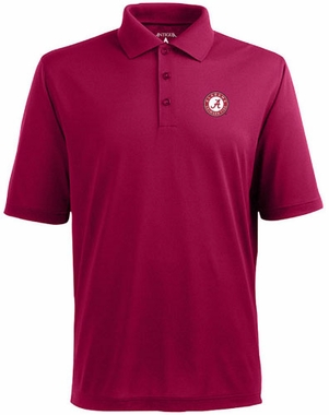 Alabama Mens Pique Xtra Lite Polo Shirt (Color: Maroon)