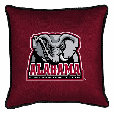 Alabama SIDELINES Jersey Material Toss Pillow