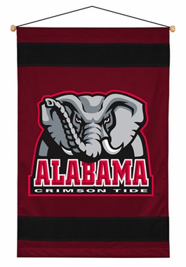 Alabama SIDELINES Jersey Material Wallhanging