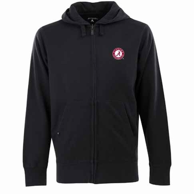 Alabama Mens Signature Full Zip Hooded Sweatshirt (Color: Black)