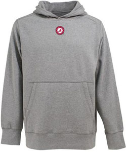 Alabama Mens Signature Hooded Sweatshirt (Color: Gray) - X-Large