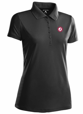 Alabama Womens Pique Xtra Lite Polo Shirt (Color: Black)