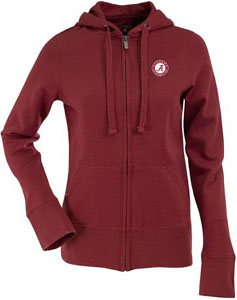 Alabama Womens Zip Front Hoody Sweatshirt (Color: Maroon) - Large