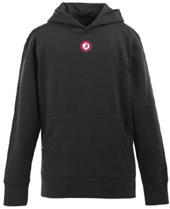 Alabama YOUTH Boys Signature Hooded Sweatshirt (Color: Black) - Medium