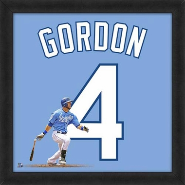 "Alex Gordon, Royals UNIFRAME 20"" x 20"""