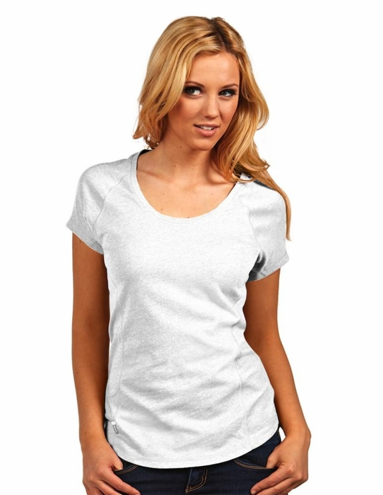 Antigua Womens Pep Scoop Neck T Shirt Color White Large