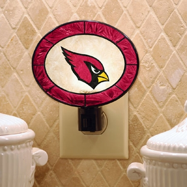 Arizona Cardinals Art Glass Night Light