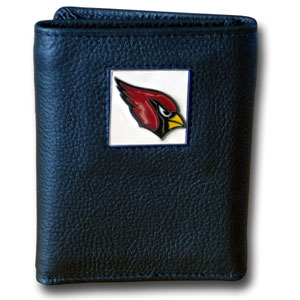Arizona Cardinals Leather Trifold Wallet (F)