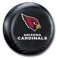 Arizona Cardinals Black Tire Cover - Standard Size