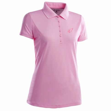 Arizona Cardinals Womens Pique Xtra Lite Polo Shirt (Color: Pink)