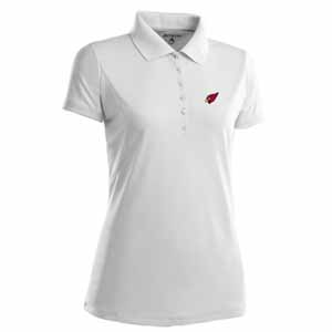 Arizona Cardinals Womens Pique Xtra Lite Polo Shirt (Color: White) - Medium