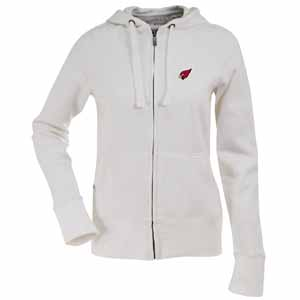 Arizona Cardinals Womens Zip Front Hoody Sweatshirt (Color: White) - Large