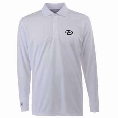 Arizona Diamondbacks Mens Long Sleeve Polo Shirt (Color: White)