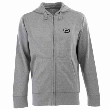 Arizona Diamondbacks Mens Signature Full Zip Hooded Sweatshirt (Color: Silver)