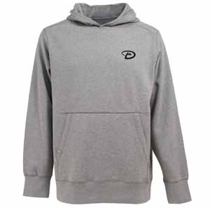 Arizona Diamondbacks Mens Signature Hooded Sweatshirt (Color: Silver) - X-Large