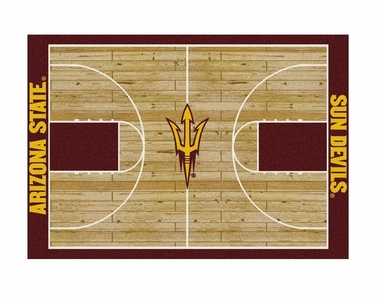 "Arizona State 5'4"" x 7'8"" Premium Court Rug"