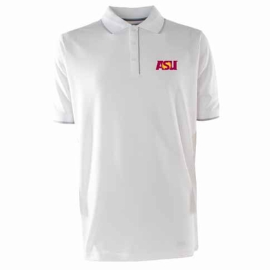 Arizona State Mens Elite Polo Shirt (Color: White)