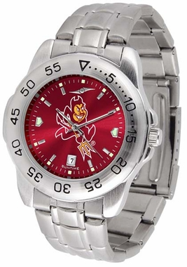 Arizona State Sport Anonized Men's Steel Band Watch