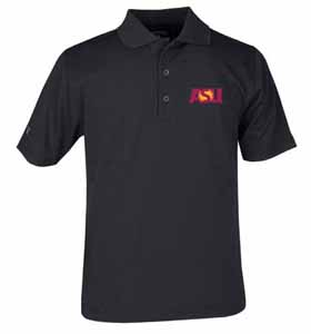 Arizona State YOUTH Unisex Pique Polo Shirt (Color: Black) - Small
