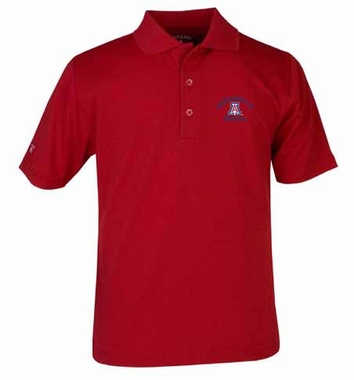 Arizona YOUTH Unisex Pique Polo Shirt (Color: Red)