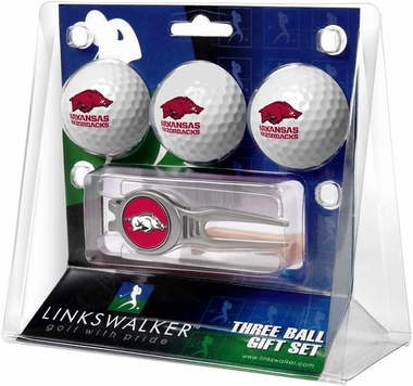 Arkansas 3 Ball Gift Pack With Kool Tool