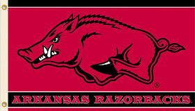 Arkansas Razorbacks 3'x5' Flag
