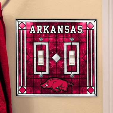 Arkansas Art Glass Lightswitch Cover (Double)