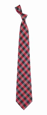Arkansas Check Poly Necktie