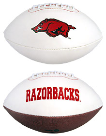 Arkansas Razorbacks Full Size Embroidered Signature Series Football