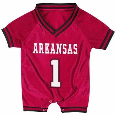 Arkansas Infant Pounce Football Jersey Onesie