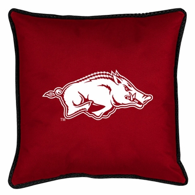 Arkansas SIDELINES Jersey Material Toss Pillow
