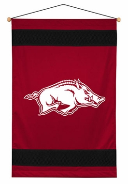 Arkansas SIDELINES Jersey Material Wallhanging