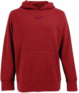 Arkansas Mens Signature Hooded Sweatshirt (Color: Red)