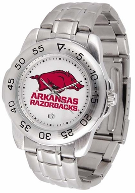 Arkansas Sport Men's Steel Band Watch